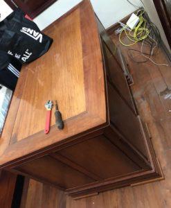 bàn làm việc gỗ hương cũ