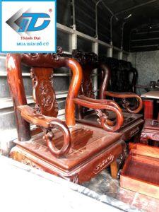 bộ bàn ghế quốc 6 món gỗ gụ cũ thanh lý