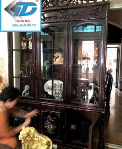 tủ rượu gỗ gụ cũ thanh lý