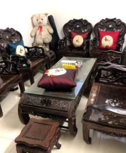 bộ bàn ghế gỗ trắc cũ