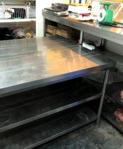 bàn chặt inox cũ thanh lý