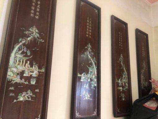 tranh từ quý gỗ gụ khảm trai