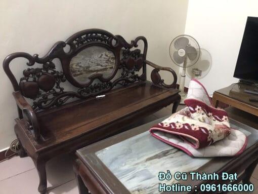 bộ bàn ghế gỗ gụ chuông đào