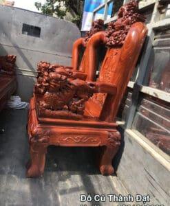 bàn ghế gỗ hương cũ tay 12