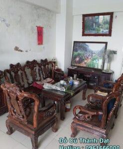 bộ bàn ghế gỗ mun 10 món