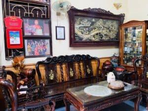 ban bộ bàn ghế gỗ gụ cũ