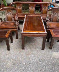 Bộ bàn ghế gỗ gụ minh lùn